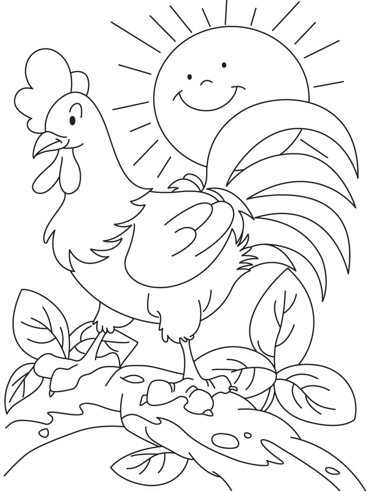 Happy going all day cock coloring pages