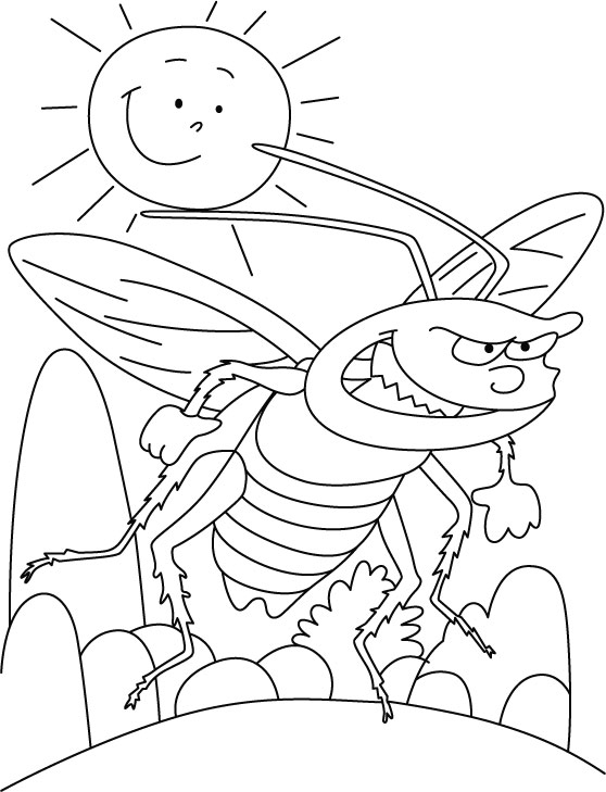 Cockroach hate sunlight coloring pages