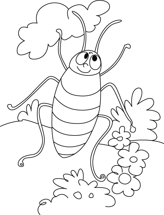 Cockroach dancing style coloring pages