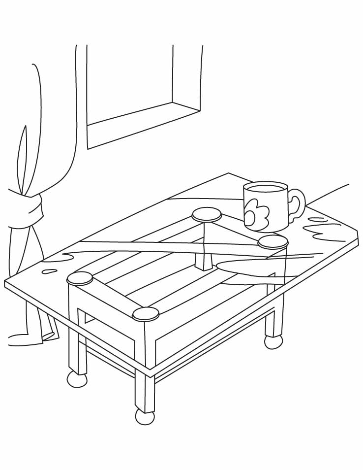 Coffee Table Coloring Pages Download Free Coffee Table