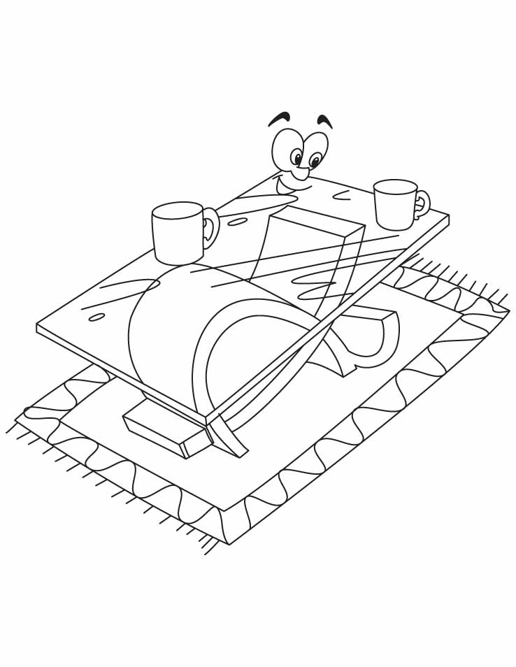 A modern coffee table coloring pages Download Free A