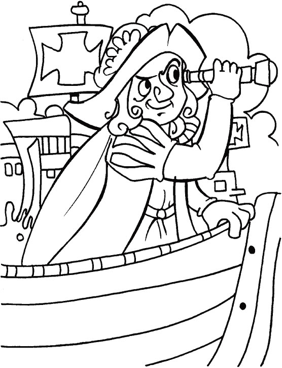 Columbus looking for some thing strange coloring page