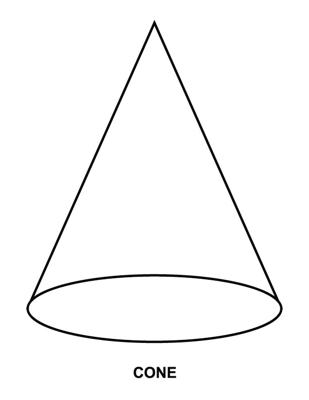 Cone line drawing