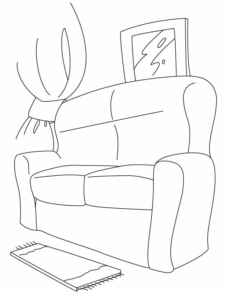coloring pages couch - photo #14