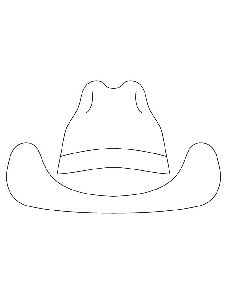 Farmer Hat Coloring Page