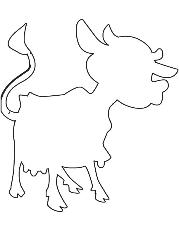Cow Outline Coloring Page Download Free Cow Outline