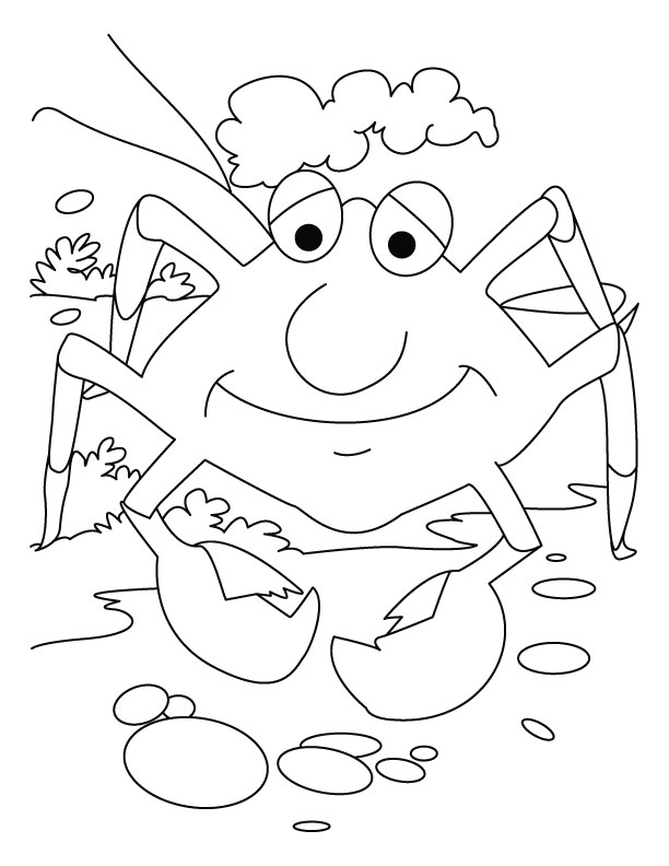 Crab, smile please coloring pages