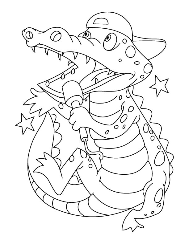 valentine coloring pages alligators - photo #25