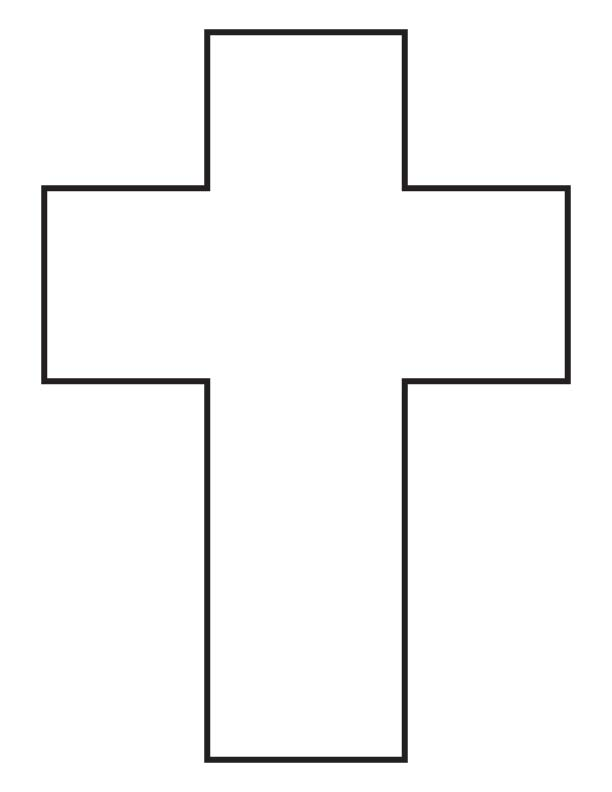 Cross coloring page Download