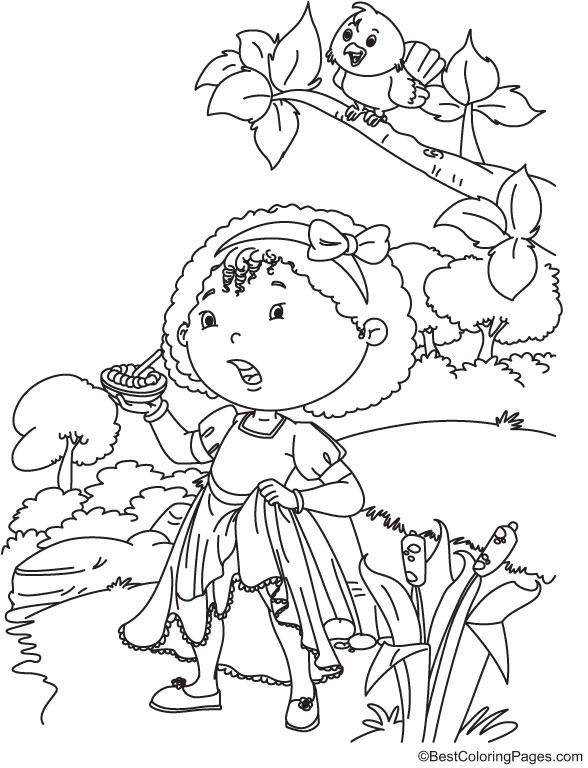 Curly Locks Nursery Rhymes Coloring Page