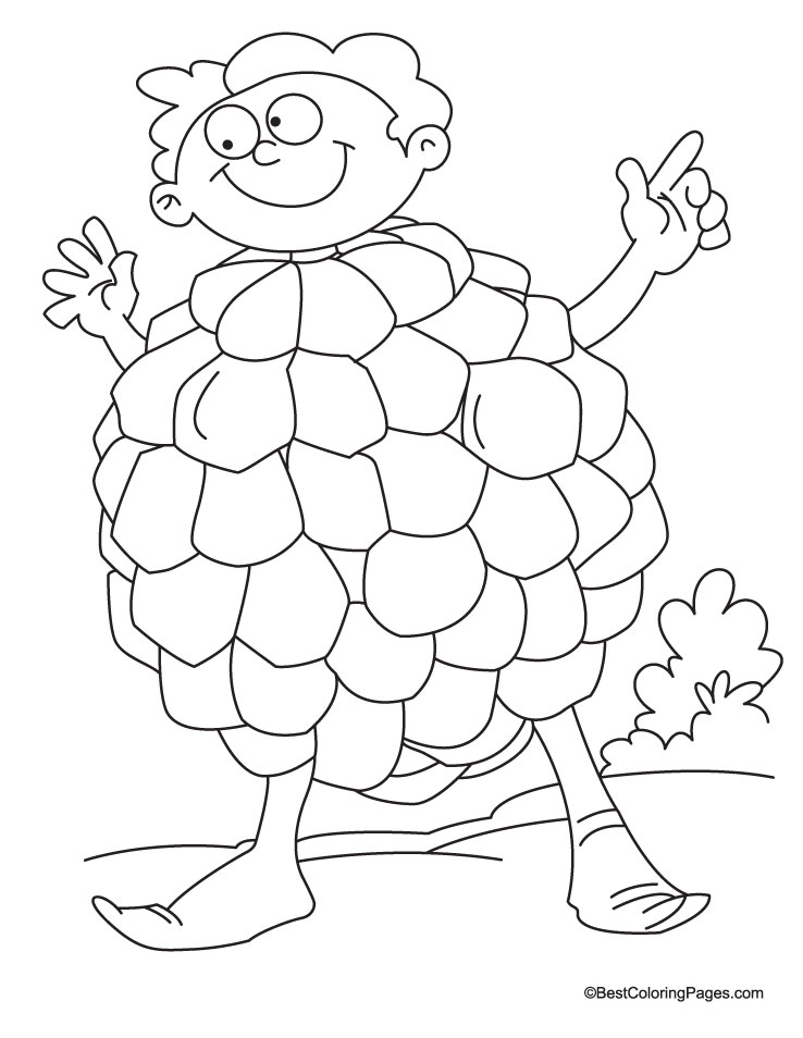 Cartoon Apple Coloring Pages : Custod apple colouring pages