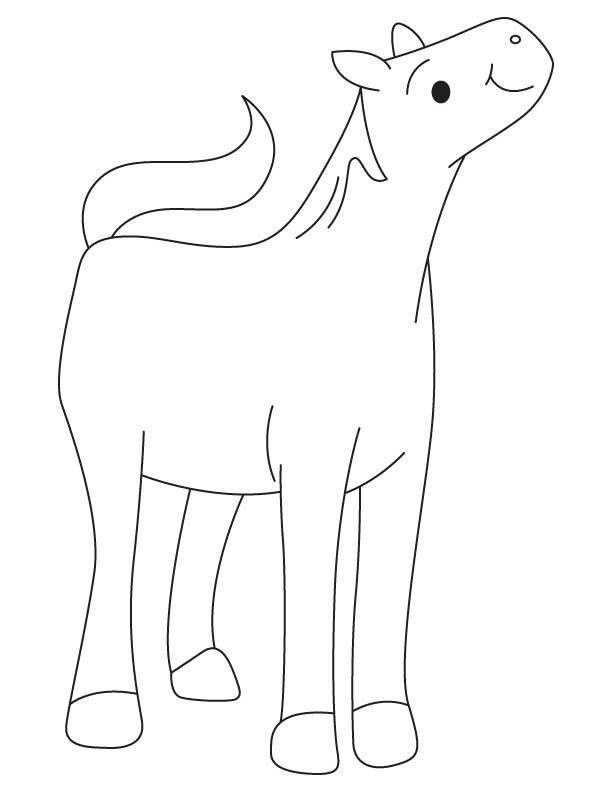 cute filly coloring page