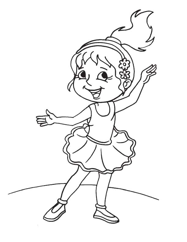 Cute girl ballet dancer coloring page | Download Free Cute girl ...