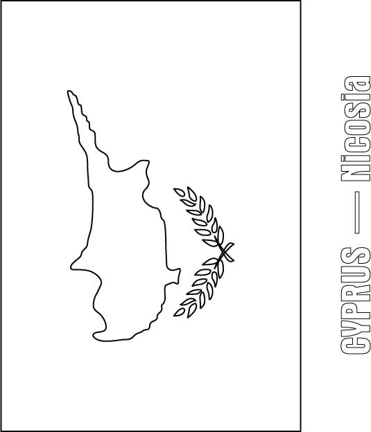 Cyprus Flag Coloring Page