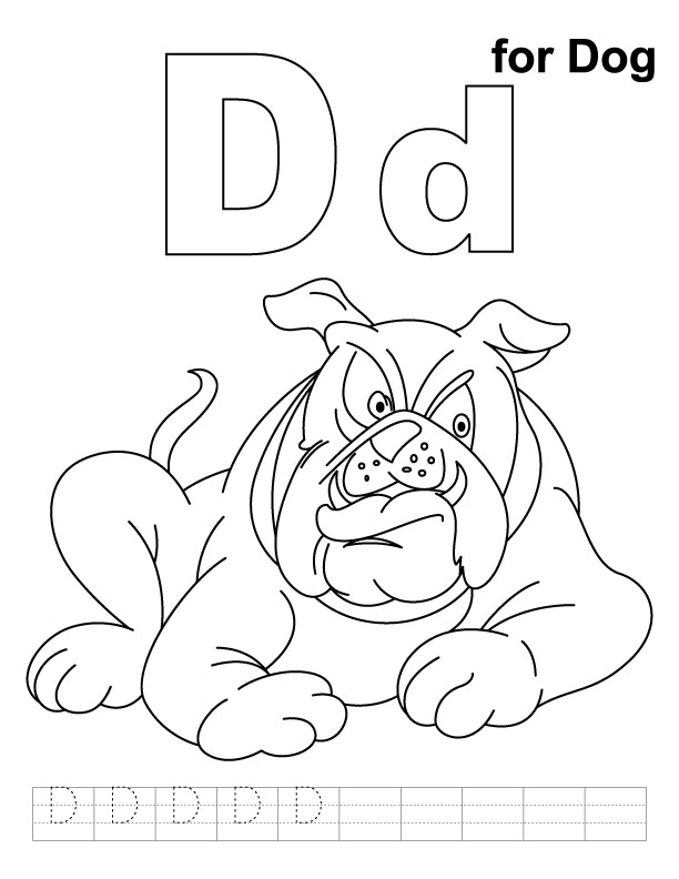 d for dog coloring pages - photo #2