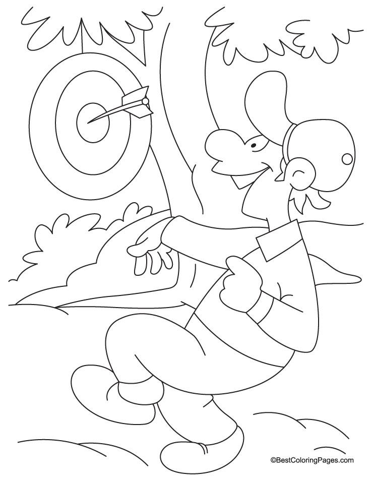 Dart board coloring page