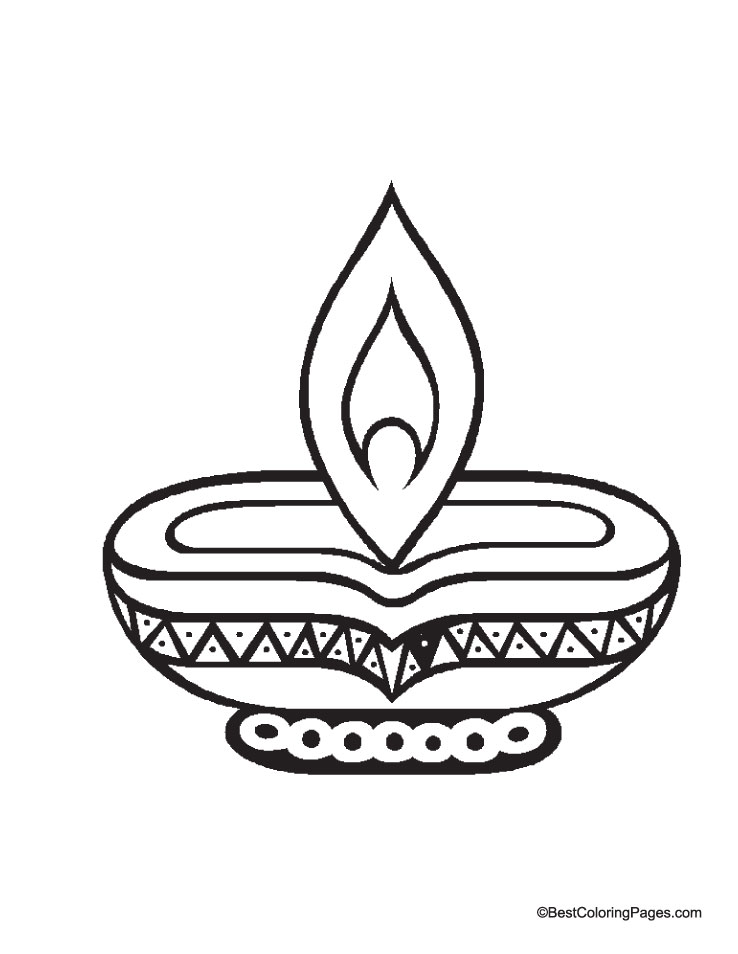 Diwali diya coloring page download free diwali diya for Free diwali coloring pages