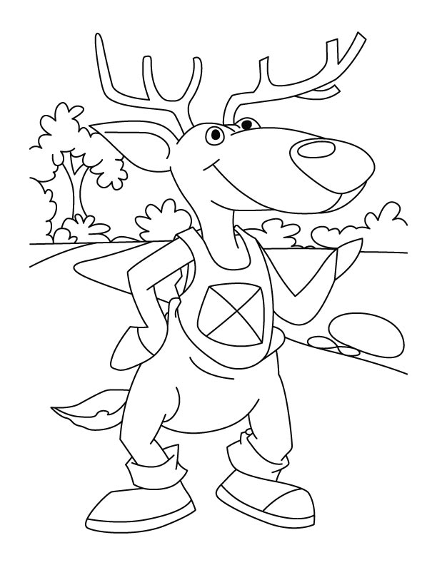 Dear deer coloring page