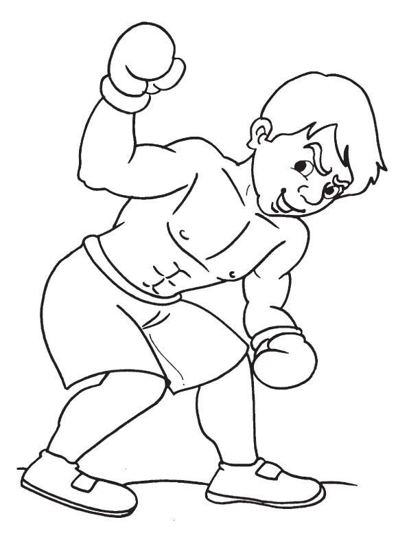 Defensive boxing coloring page