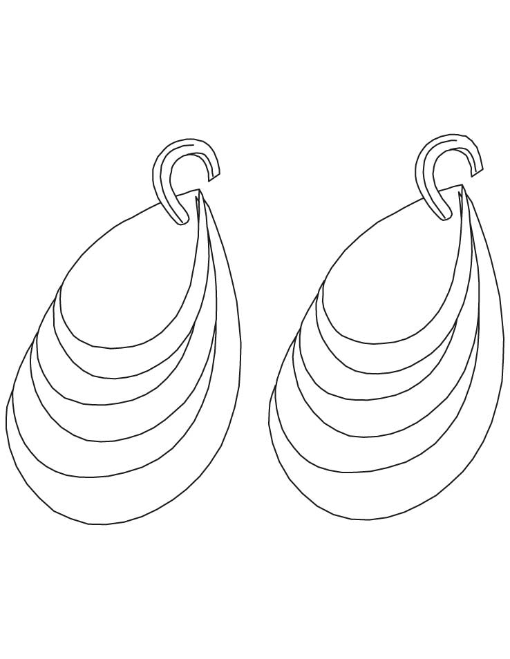 diamond earring coloring pages