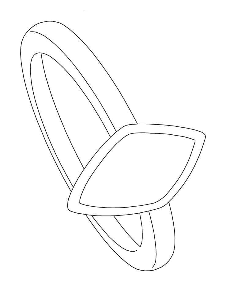 diamond ring coloring pages