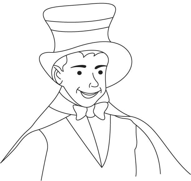 coloring pages magician - photo#13