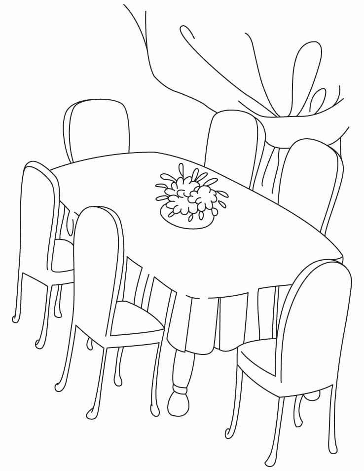 Table Meal Colouring Pages