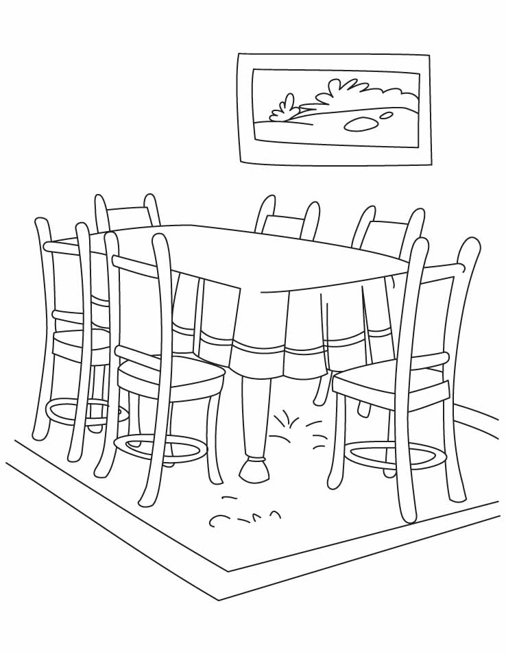 tables coloring pages - photo #42