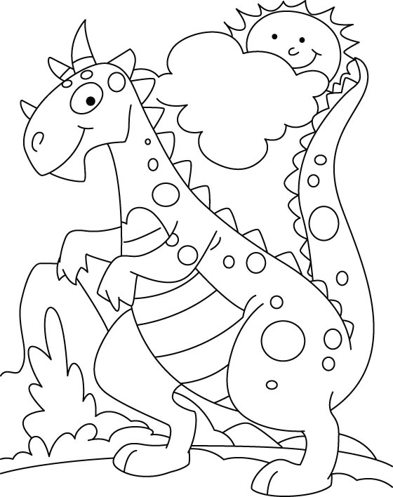 d is for dinosaur coloring pages - photo #40