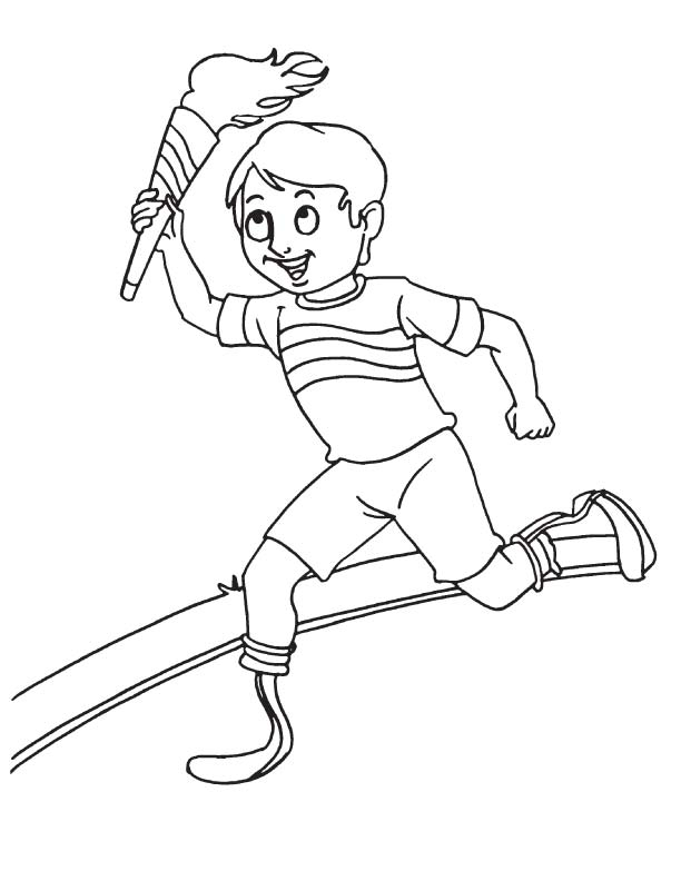kids running coloring pages - photo#26