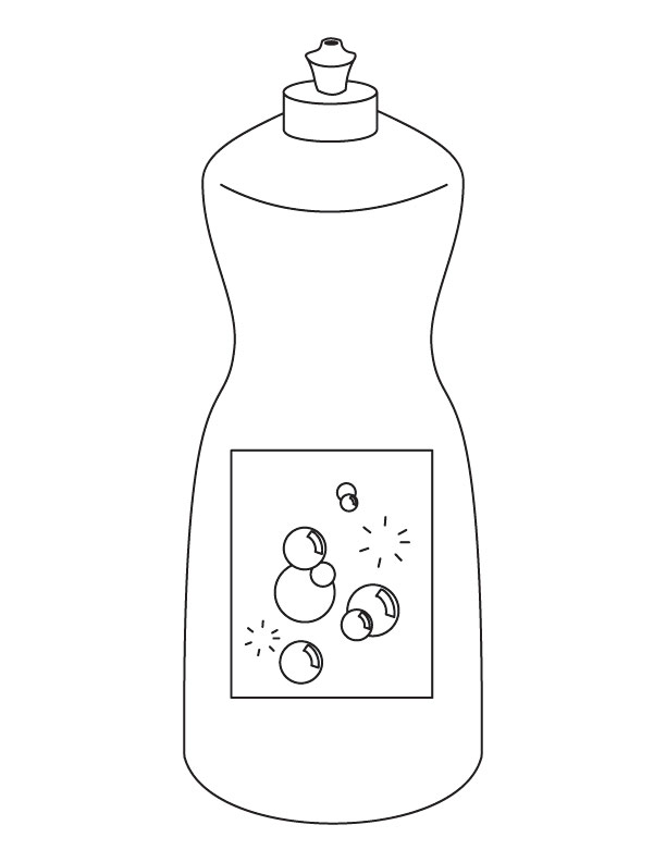 Dish soap coloring page | Download Free Dish soap coloring page ...