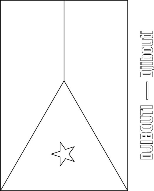 djibouti flag coloring page  download free djibouti flag coloring, coloring pages