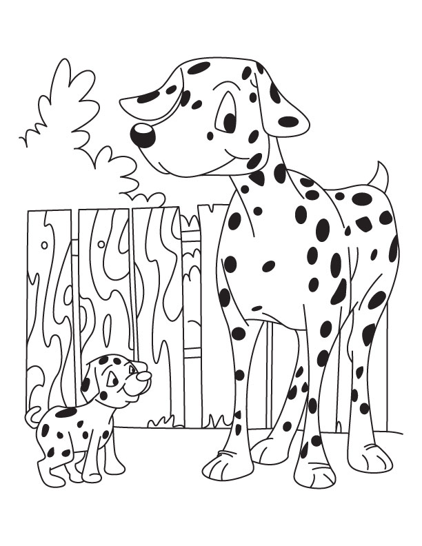 Dog and Puppy coloring page