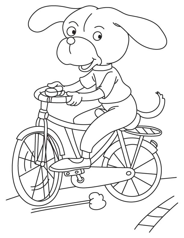 Riding bmx bike coloring online sketch coloring page for Coloring pages of bikes