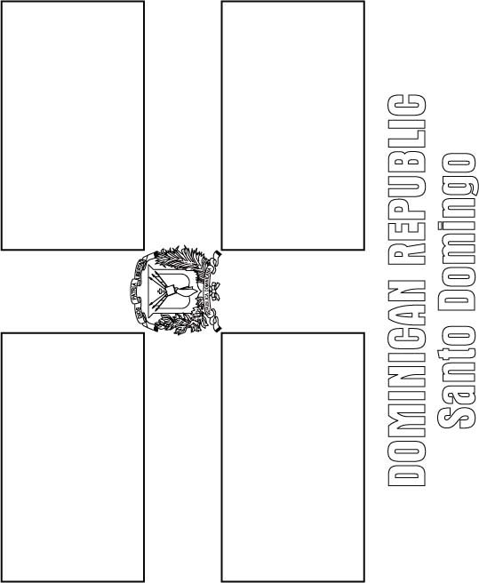 dominican republic coloring pages dominican republic flag coloring page download free