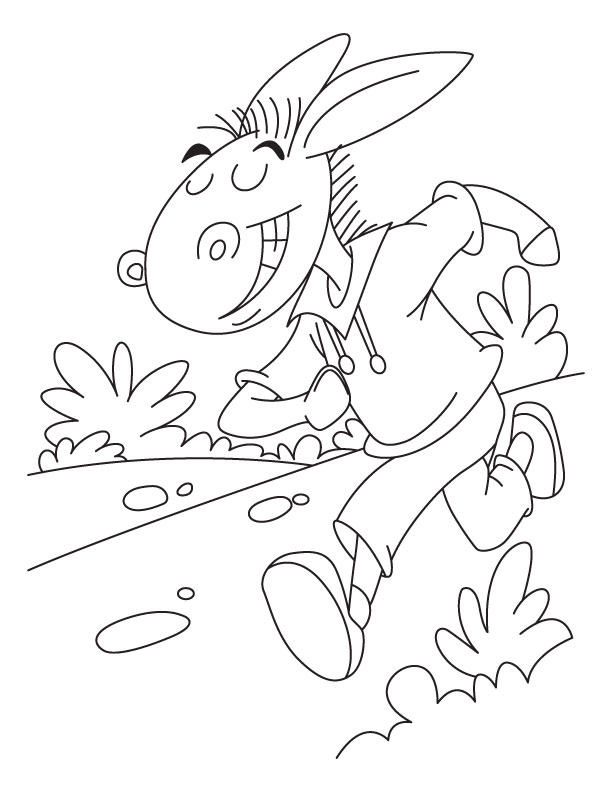 d is for donkey coloring pages - photo #18