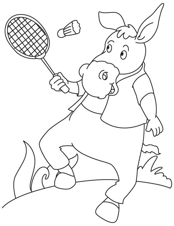 Badminton coloring images galleries for Badminton coloring pages
