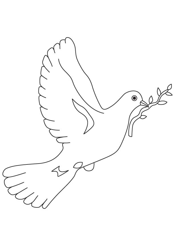 Free Coloring Pages Of Dove Dove Coloring Page