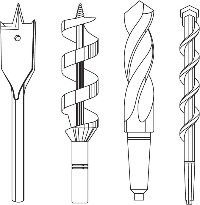 Drill bits coloring pages