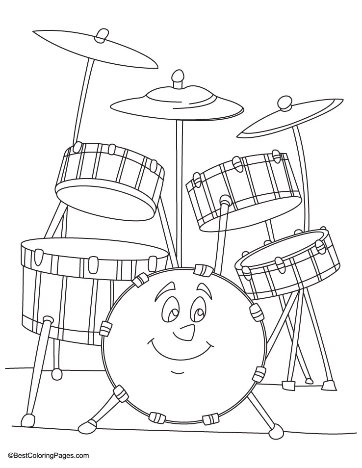 Drum Coloring Pages Cake Ideas And Designs Drum Coloring Page