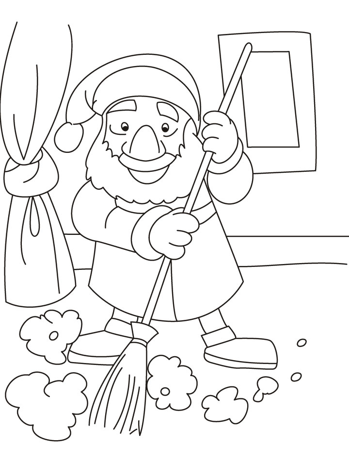 Disney Coloring Pages Snow White Cleaning