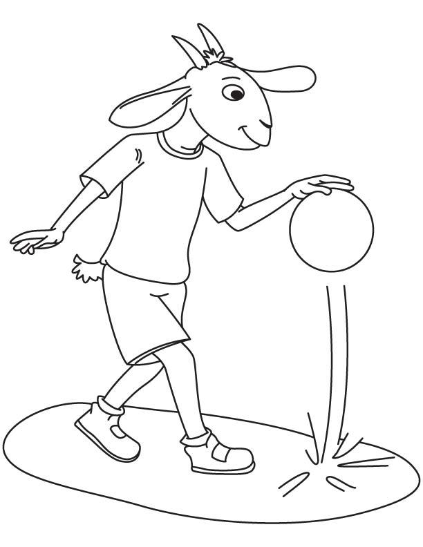 Dwarf goat coloring page