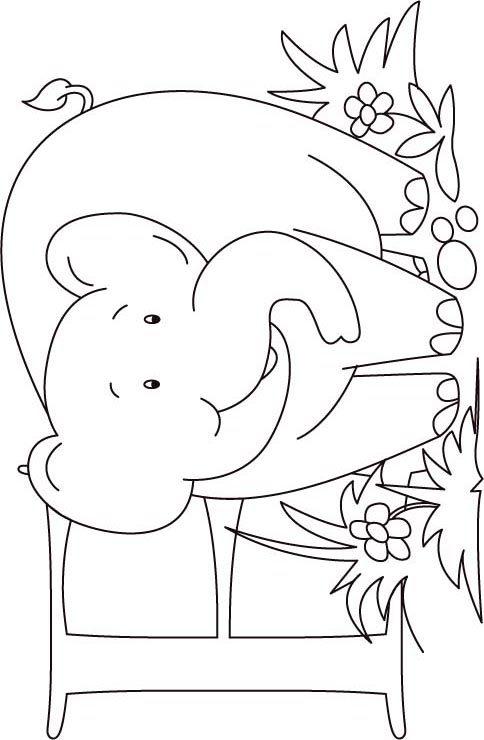 e elephant coloring pages - photo#31