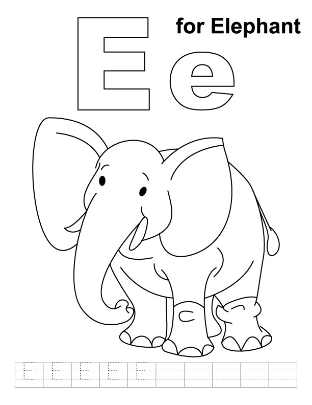 e elephant coloring pages - photo#4