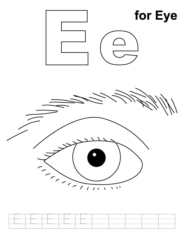 coloring book pages of eyes - photo#32