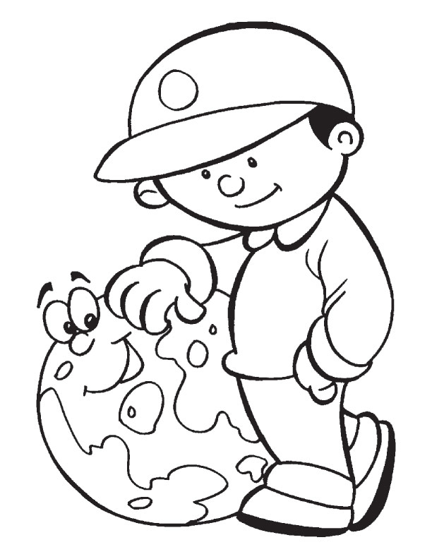 Save Earth Future Coloring Page