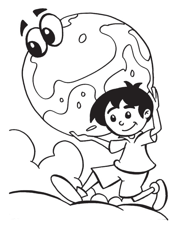 Protect Eart as you protect your own belongings coloring page