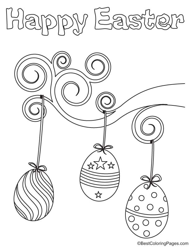 Easter bulb coloring page
