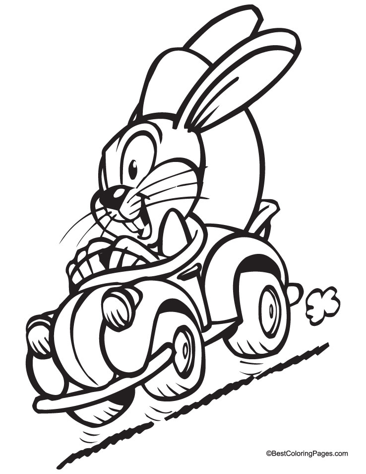 happy easter coloring pages. happy easter bunny coloring
