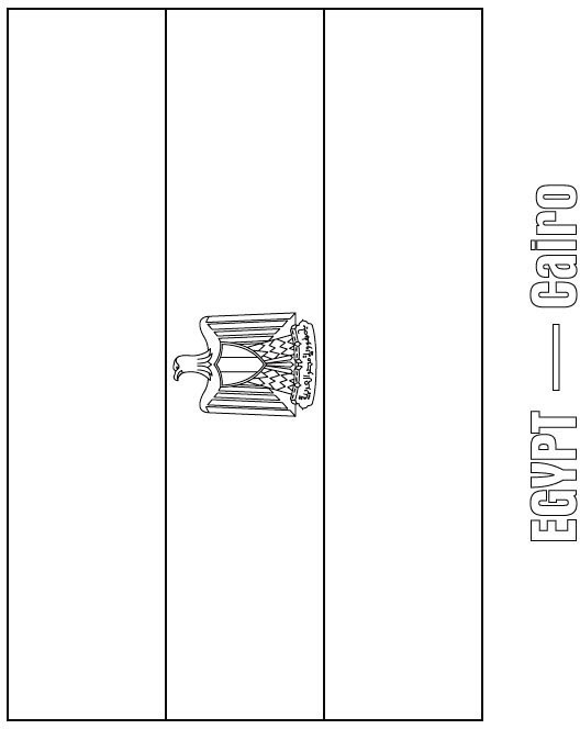 Egypt Flag Coloring Page  Download Free Egypt Flag Coloring Page